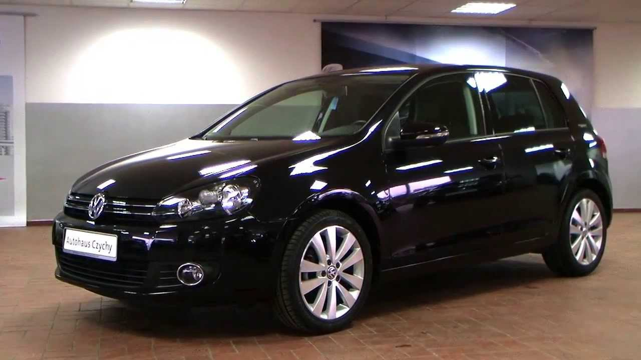 volkswagen golf vi 2 0 tdi team plus 2010 deep black perleffekt aw410128 youtube. Black Bedroom Furniture Sets. Home Design Ideas