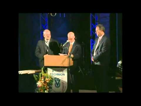 Technion - Honorary Fellowship Awarded to Sid Lejfer (2011)