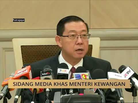 Sidang Media Khas Menteri Kewangan