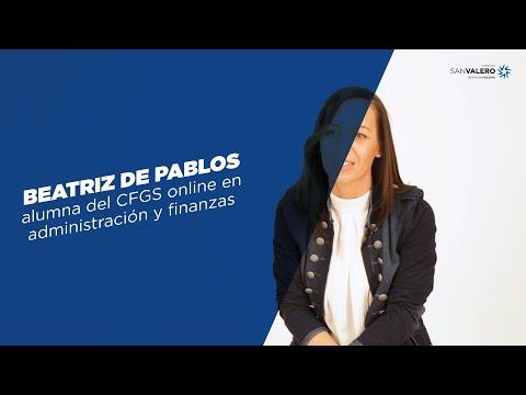 Beatriz De Pablos, Alumna Del Ciclo Superior Online De  Administración Y Finanzas