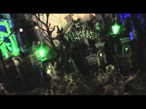 Sean's Halloween Village 2011 dept 56 spooky town