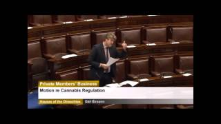 Michael McNamara TD speaking on the cannabis motion in Dail Eireann.