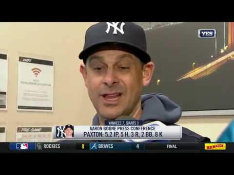 Aaron Boone talks Yankees collective determination