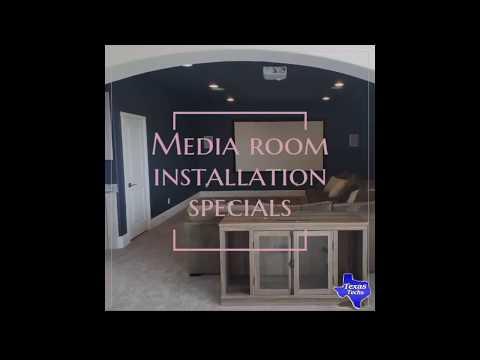 Media Room Installation & TV Mounting DFW