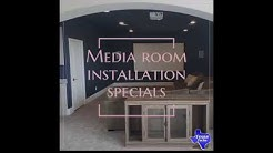 Media Room Installation & TV Mounting DFW