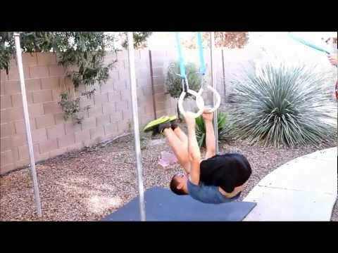 Making home-made Gymnastic Rings for Pole Vaulting Practice