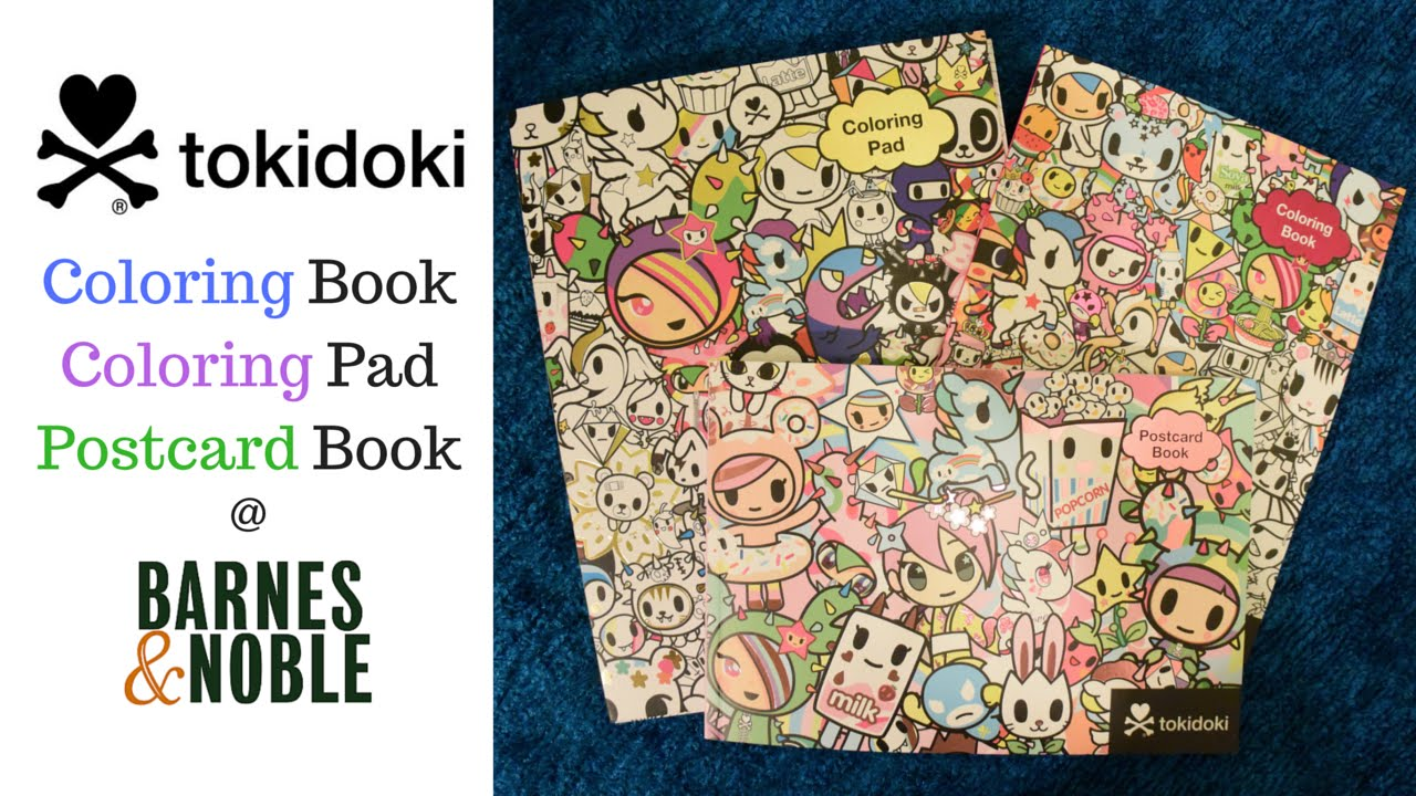 Tokidoki Coloring Pages Tokidoki Coloring Book Coloring Pad And Postcard Book  Barnes