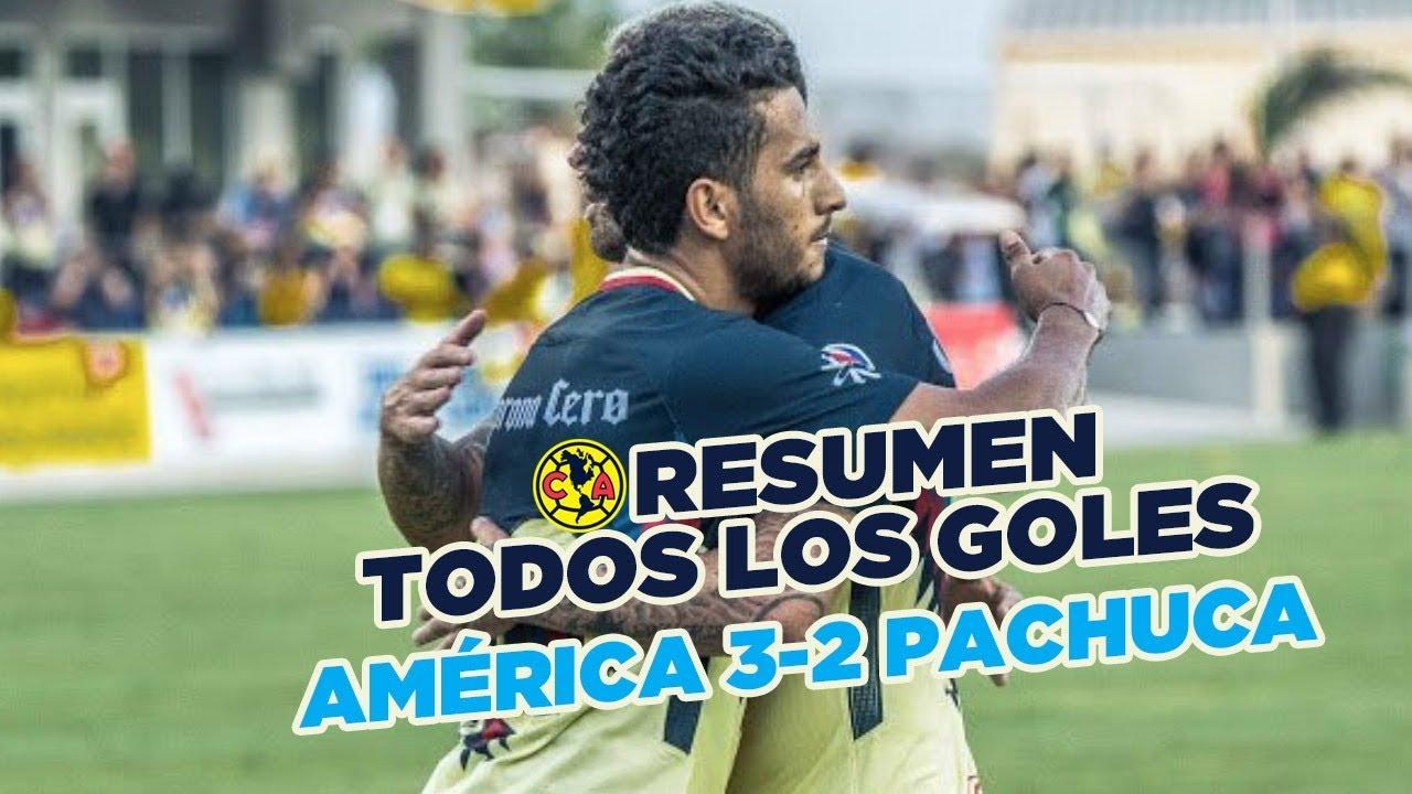 766c4367dbb RESUMEN: Todos los goles Club América 3-2 Pachuca | Pretemporada  #TourÁguila 2018