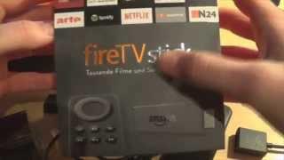 Unboxing Amazon fireTVStick - Dual-Core HDMI-Media-Streaming-Stick für 39€