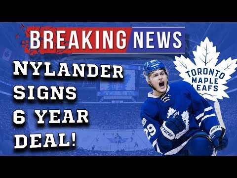 William Nylander Signs 6 Year Deal With the Leafs!