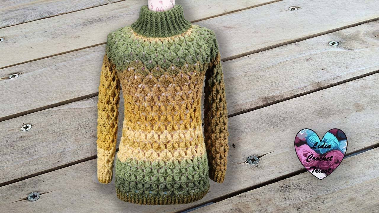Pull Câlin Crochet Toutes Tailles Lidia Crochet Tricot Youtube