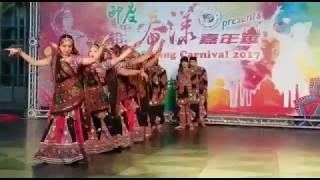 Gujarati folk dance, Garba, presented by Taiwan Indian