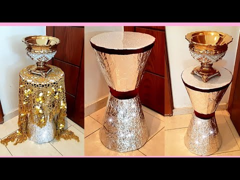 plasticbottlecrafts DIYCARDBOARD COFFEE TABLE PLASTIC BOTTLE CRAFTS ROOM DECOR IDEA: