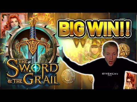 BIG WIN! SWORD AND THE GRAIL BIG WIN - Casino Slots from Casinodaddy LIVE STREAM