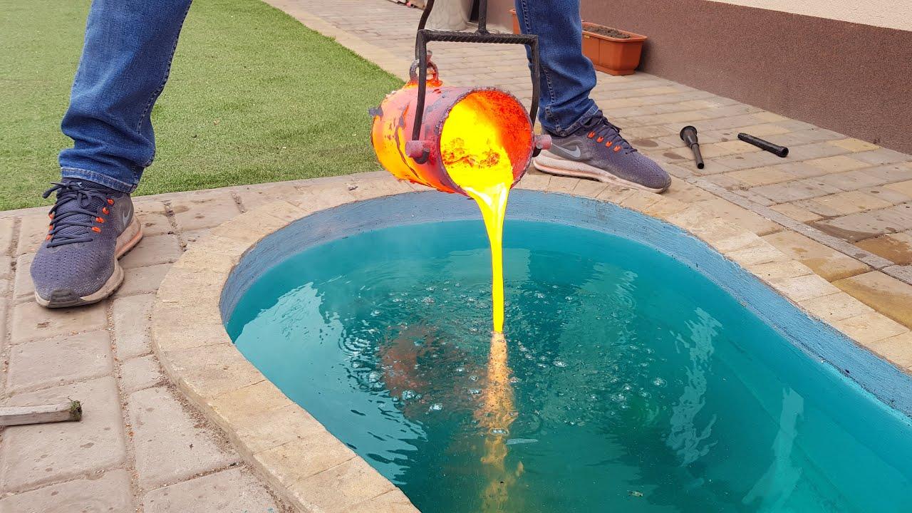 Experiment Lava Vs Pool Youtube