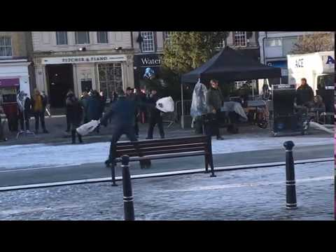 The Comet - Hitchin filming for Aldi Winter Olympics advert
