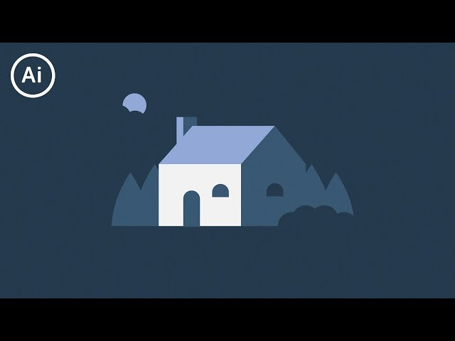 Flat Design House | Illustrator Tutorial