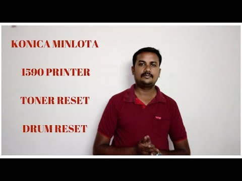 Complete RESET or REBOOT of Konica Minolta pagepro 1590 MF