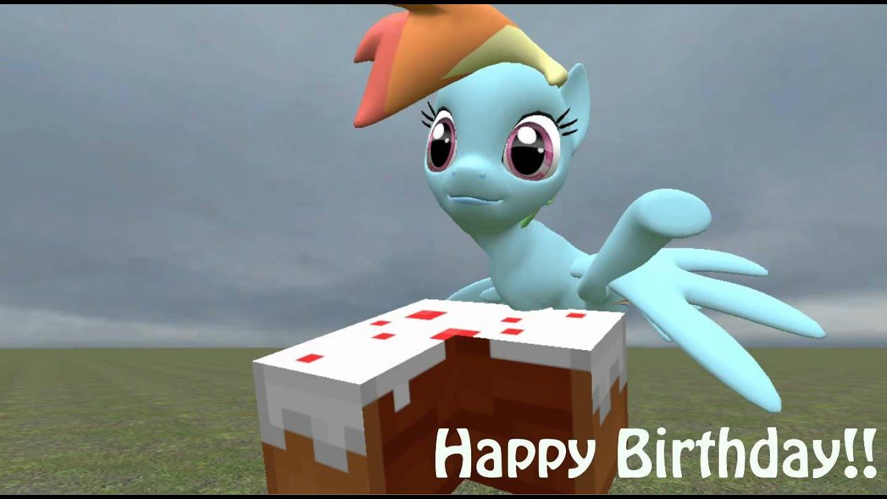 Happy Birthday Ana Minecraft And Brony Love Youtube