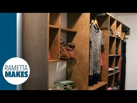 How to Build a Custom Walk-In Closet // DIY - Part 2