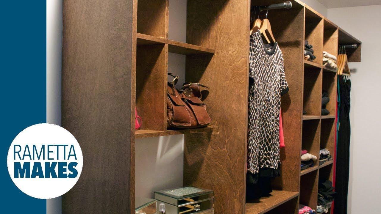 How To Build A Custom Walk In Closet Diy Part 2