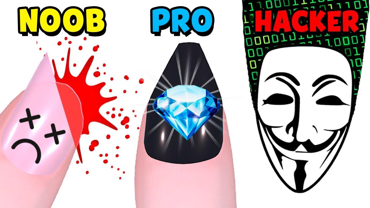 NOOB vs PRO vs HACKER – Nails Done!