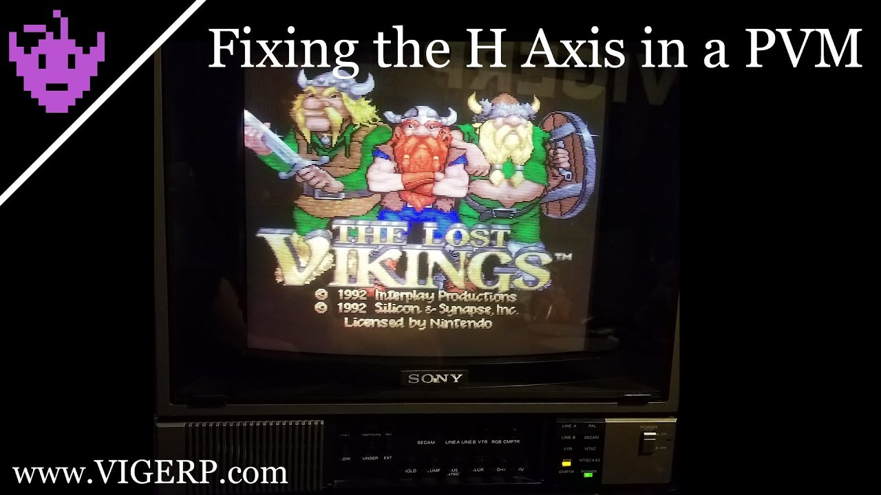 Adjusting the horizontal alignment of a Sony PVM-1271Q