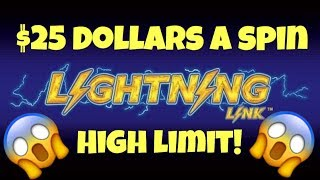 😱 High Limit Lightning Link Slot Machine 😱 $25 Dollars A Spin Bonuses At Casino Pokies