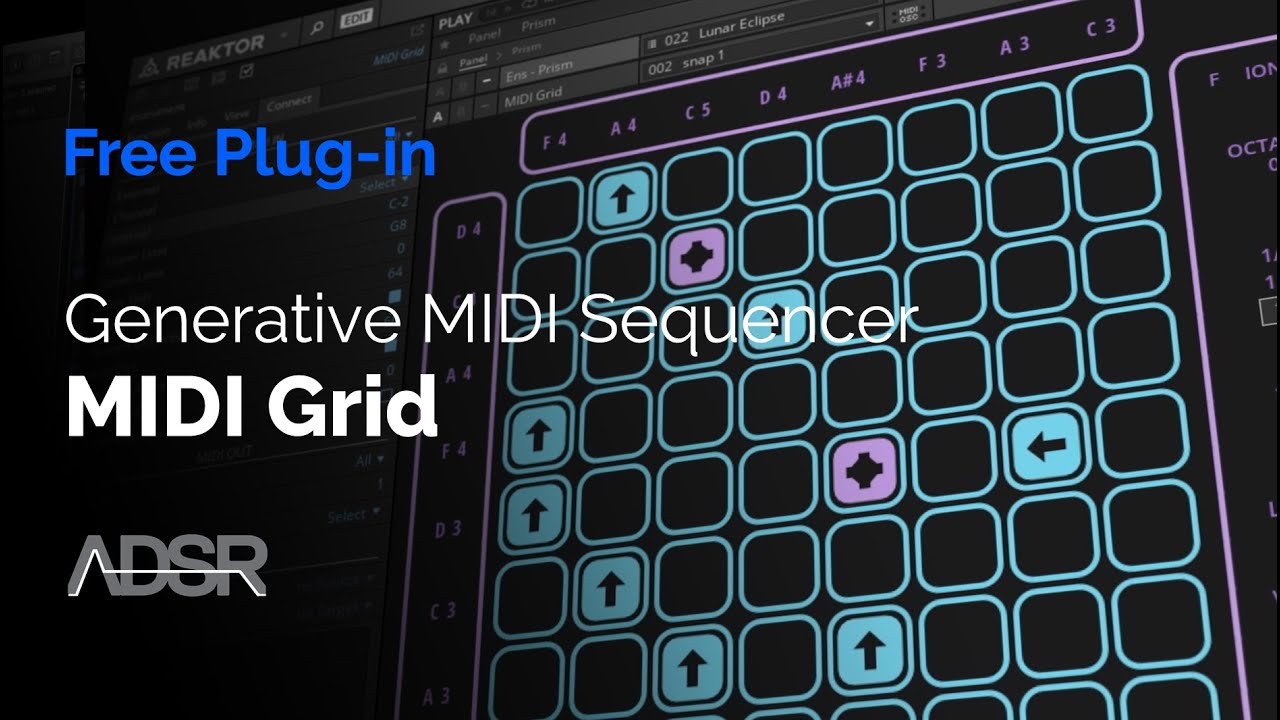 MIDI Grid – Create evolving patterns (Free plug-in download