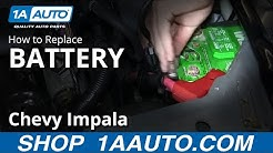 How To Replace Dead Battery 06-12 Chevy Impala