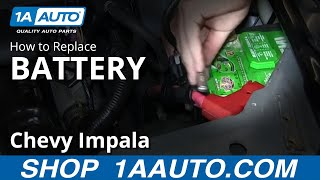 How To Install Replace Dead Battery 2006-12 Chevy Impala