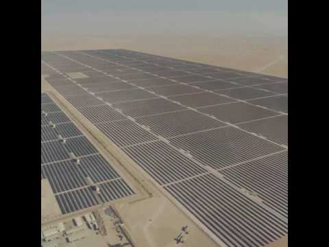 Here are the millions of solar panels at UAE'S largest Solar Park