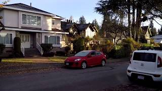 Vancouver Canada - West Area of City - Dunbar Highlands - Walking Around Houses/Homes