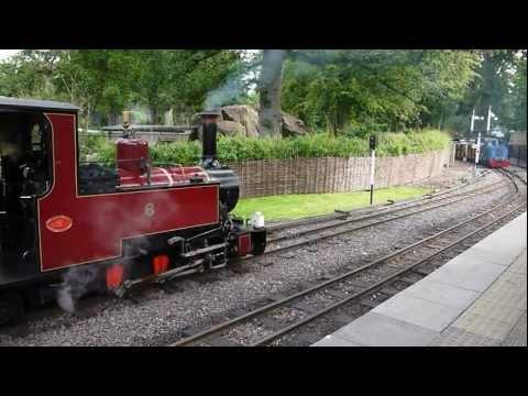 Longleat Safari Park Railway Jungle Express Narrow Gauge Steam & Diesel Trains, August 2012