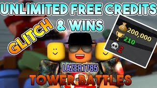 [Roblox] Tower Battles: UNLIMITED FREE CREDITS & WINS (GLITCH) (SOLO)