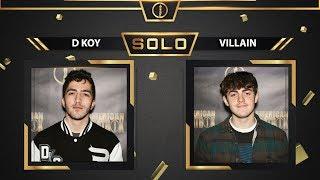 D-KOY vs Villain   Solo Top 16 Battle   American Beatbox Championships 2018