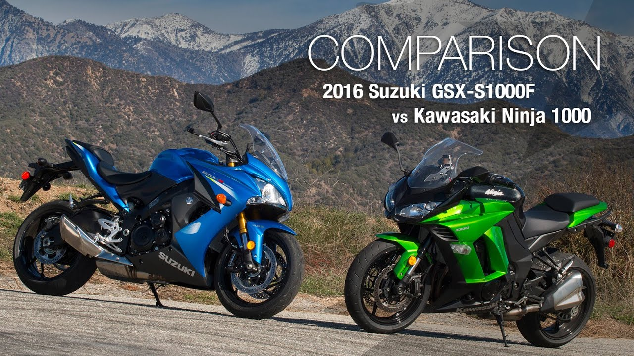 2016 suzuki gsx s1000f vs kawasaki ninja 1000 motousa doovi. Black Bedroom Furniture Sets. Home Design Ideas
