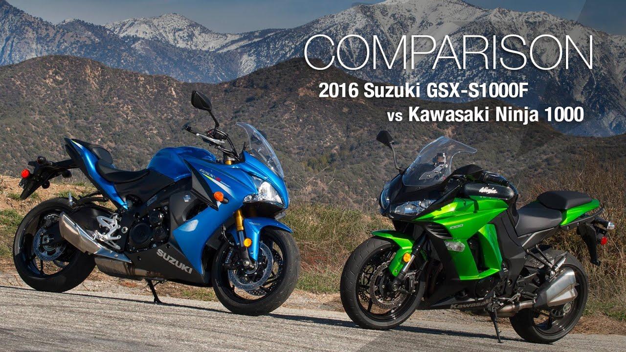2016 suzuki gsx s1000f vs kawasaki ninja 1000 motousa doovi. Black Bedroom Furniture Sets. Home Design Ideas
