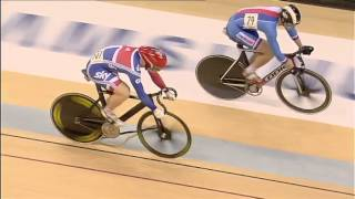 uci track cycling world cup glasgow day 3 crash