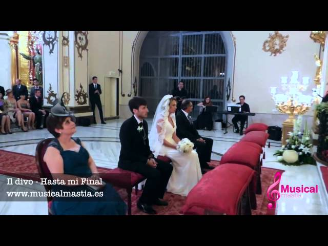 Il Divo Hasta mi Final PIANO VIOLIN Y TENOR - BODAS LORCA Musical Mastia Wedding