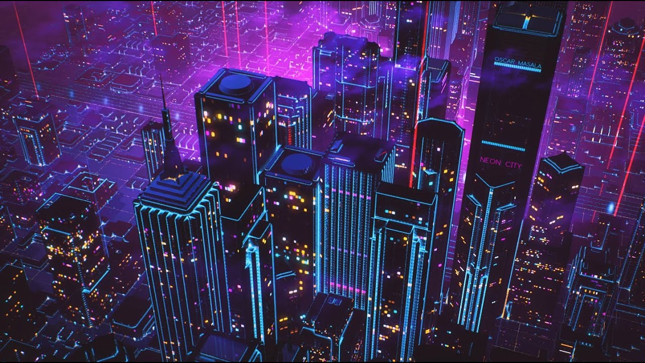 Oscar masala neon city youtube - Space 80s wallpaper ...