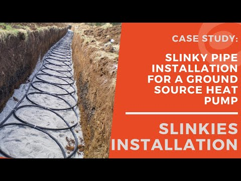 Kensa Heat Pumps - Installing Slinkies for a Ground Source ... on