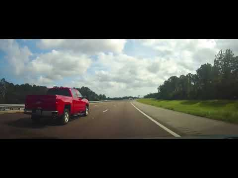 Driving on Interstate 95 from Titusville, Florida to Palm Bay