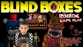 Five Nights at Freddys Blind Box Surprise Toys Opening Jayden Plays FNAF Roblox Game