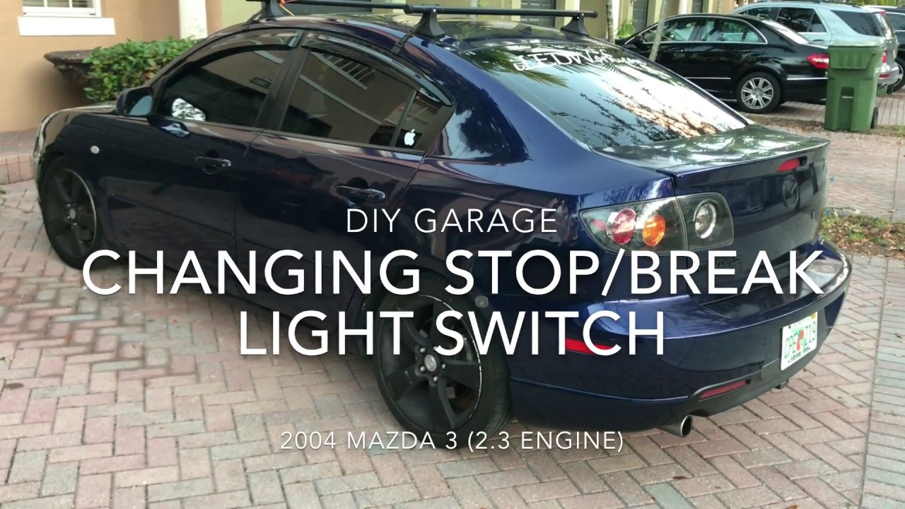 mazda 3 2004 break stop light switch replacement diy garage youtube. Black Bedroom Furniture Sets. Home Design Ideas