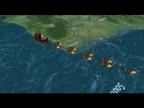 NORAD Santa Tracker Now Over Mid West USA