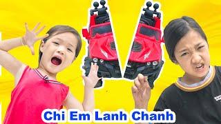 Hai Chị Em Lanh Chanh ❤ Dạy Trẻ Biết Nhường Nhịn Nhau - Trang Vlog