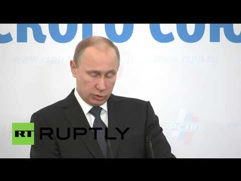 "Russia: Putin says freedom for business is ""best response to external challenges"""
