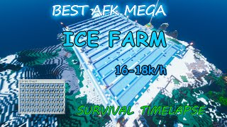 Mega AFK Ice Farm | survival timelapse | Minecraft 1.16.1