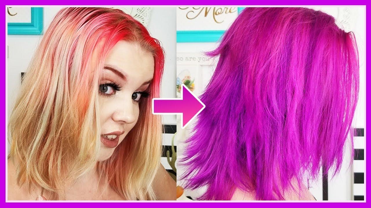 b9d1bbec636946 Hair Color Transformation! Virgin Pink + Purple Rain (Arctic Fox ...